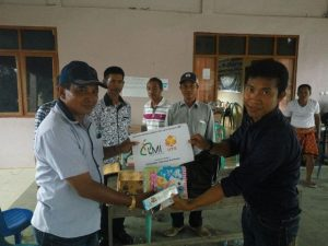 Bantuan ATK untuk Desa Kukin Kec. Moyo Utara