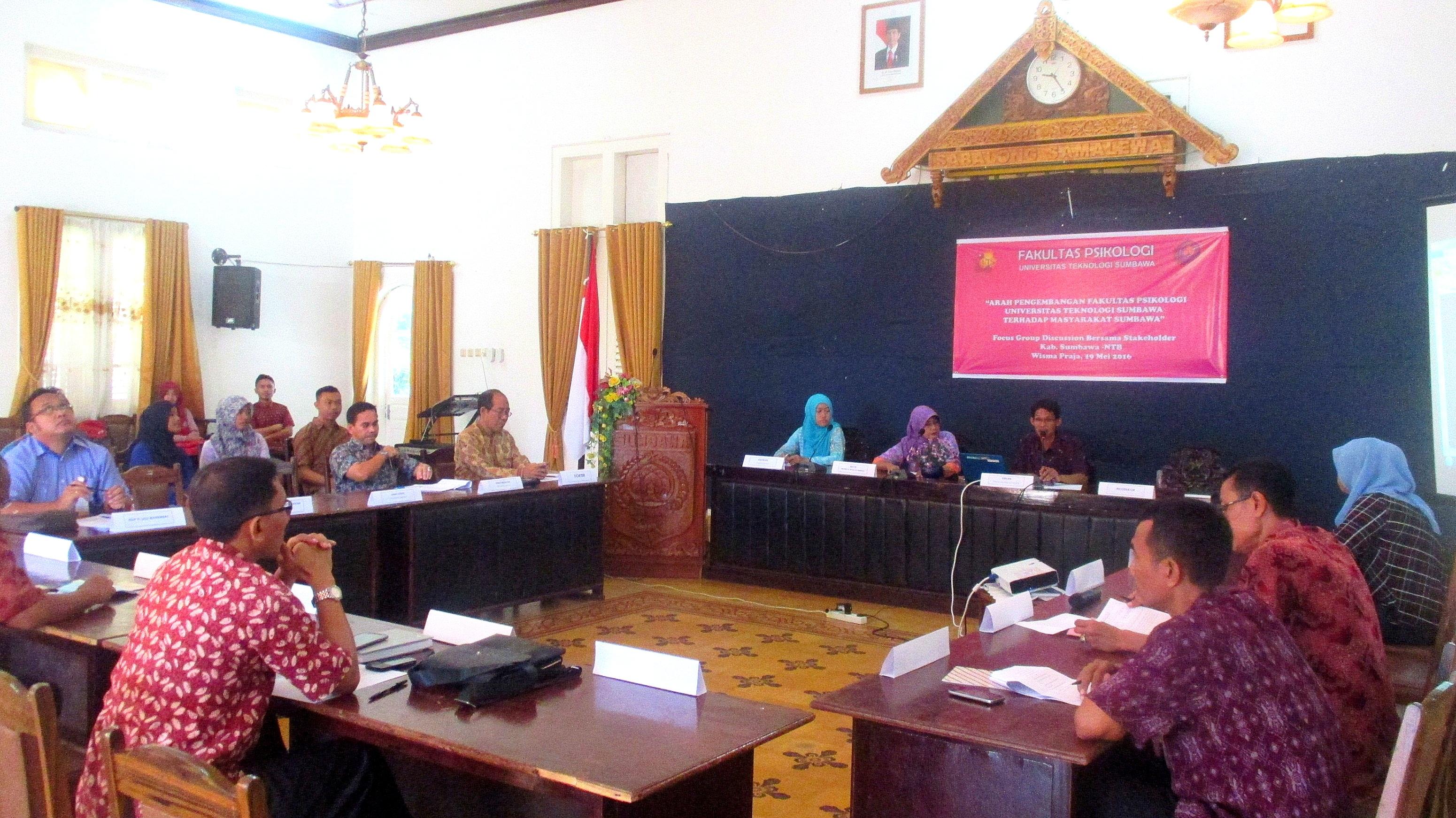 Sosialisasikan Visi dan Misi, Fakultas Psikologi UTS Gelar Focus Group Discussion