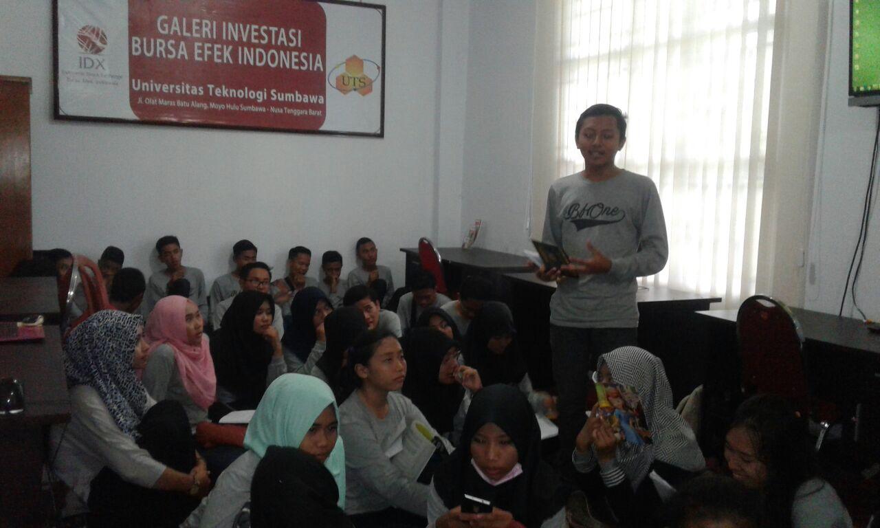 SMAN 1 Sumbawa bertandang ke UTS untuk Belajar Pasar Modal